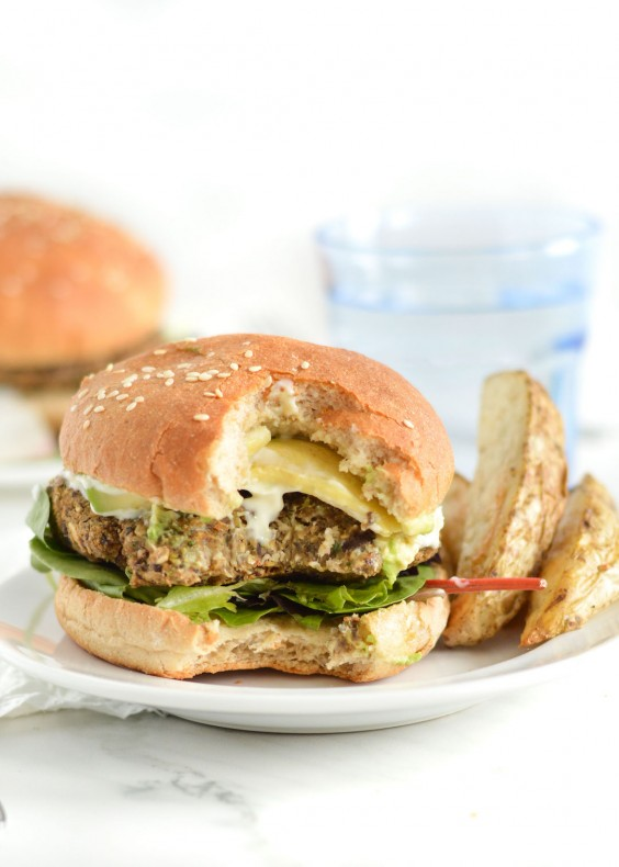 10. Gluten-Free Spicy Black Bean Oat Burgers