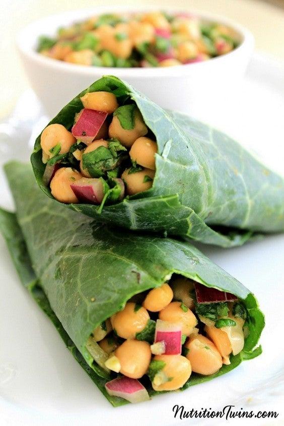 11. Chickpea Salad Wraps