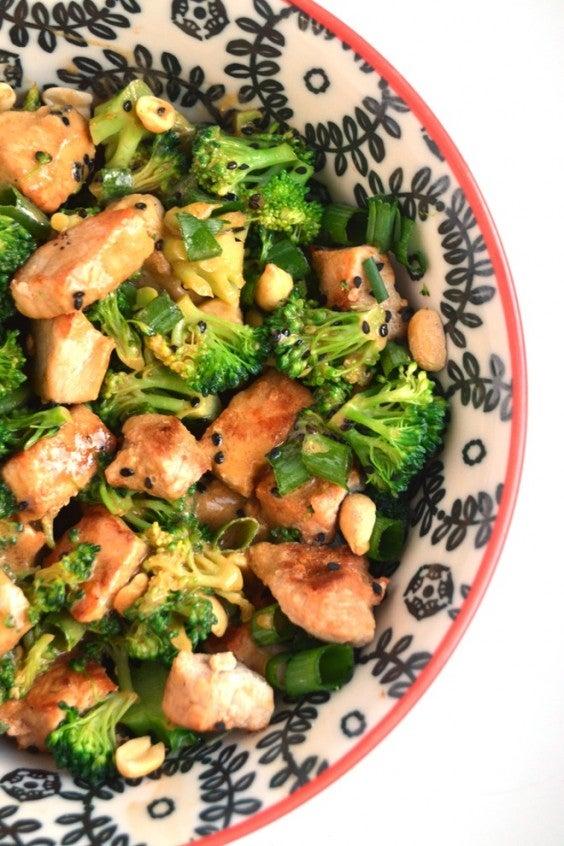 8. Peanut Broccoli and Pork Stir-Fry
