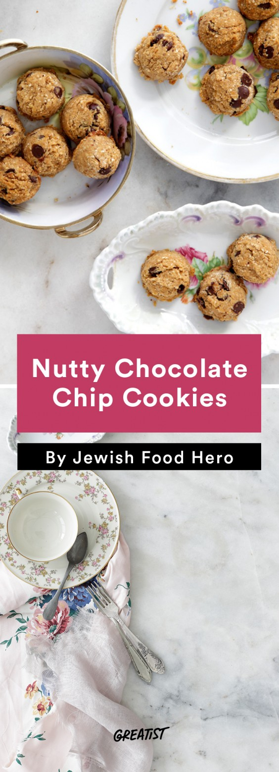 jewish food hero: Nutty Chocolate Chip Cookies