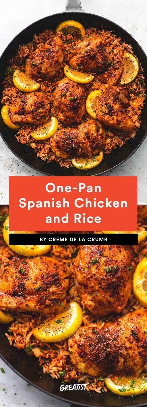 1. One-Pan Spanish Chicken and Rice