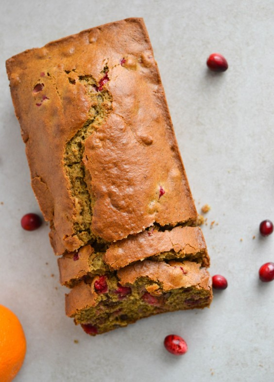 5. Healthy Ginger Orange Cranberry Bread