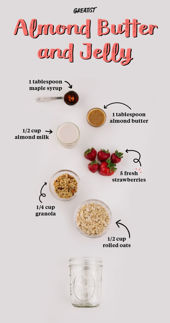 1. Almond Butter and Jelly Overnight Oats