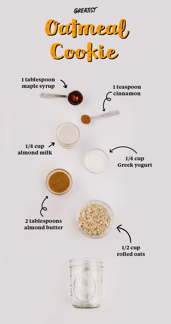 2. Oatmeal Cookie Overnight Oats