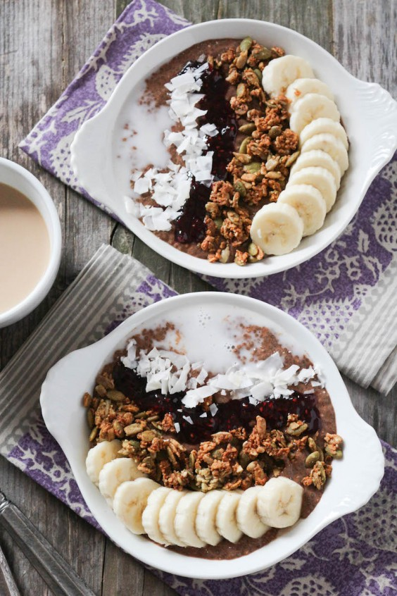 7. Chocolate Coffee Protein Breakfast Bowls