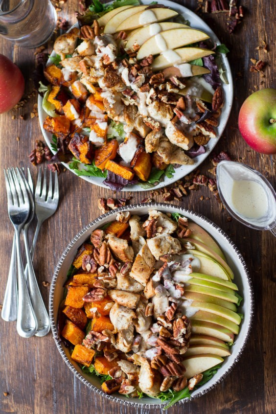 8. Paleo Butternut and Apple Chicken Salad With Creamy Maple Dressing
