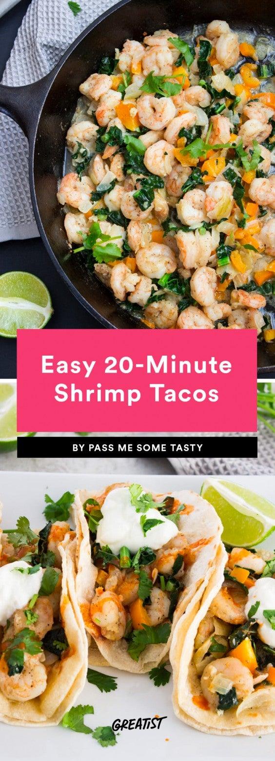 4. Easy 20-Minute Shrimp Tacos