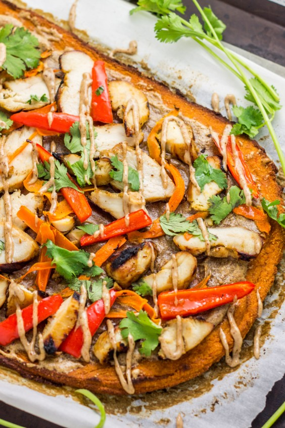 2. Thai Chicken Sweet Potato Flatbread