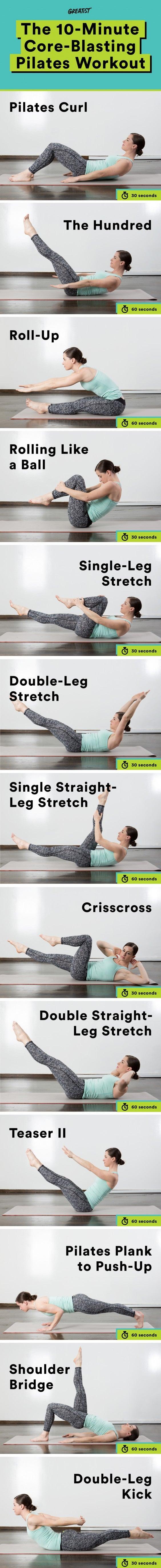 Pilates Exercises: Core-Blasting Home Pilates Workout