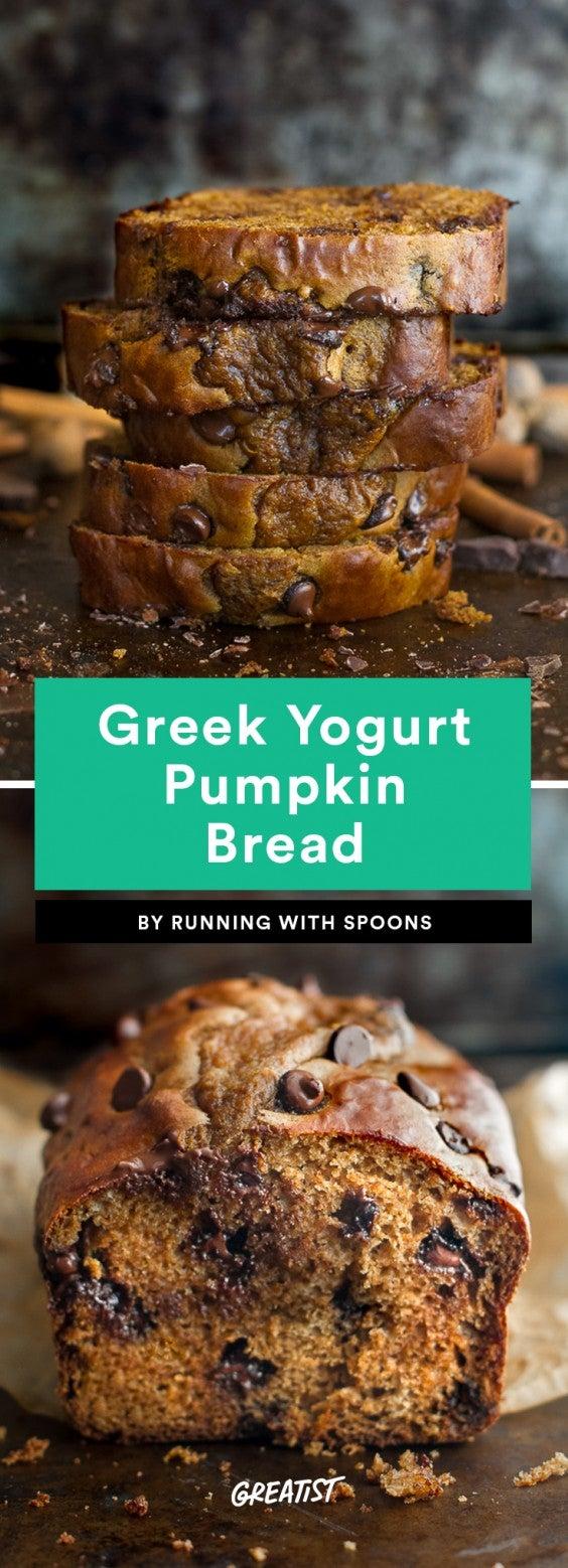 Greek Yogurt Pumpkin Bread Recipe