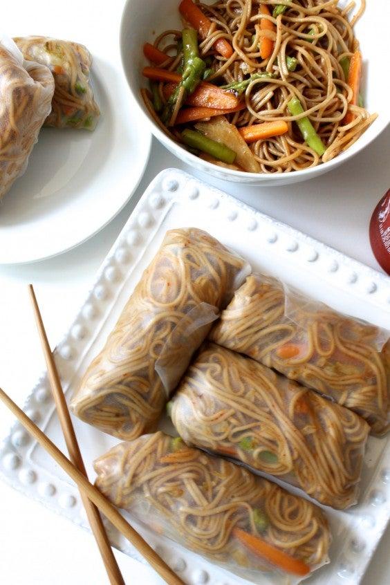 15. Teriyaki Soba Noodle Spring Rolls