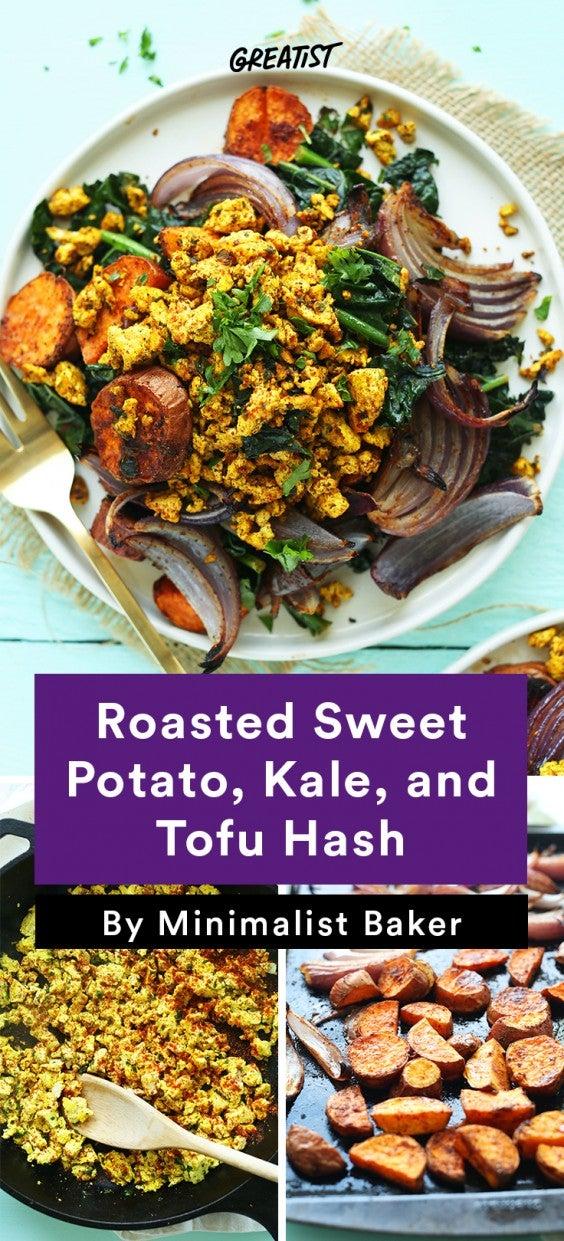 Sweet Potato Hash: 2. Roasted Sweet Potato, Kale, and Tofu Hash