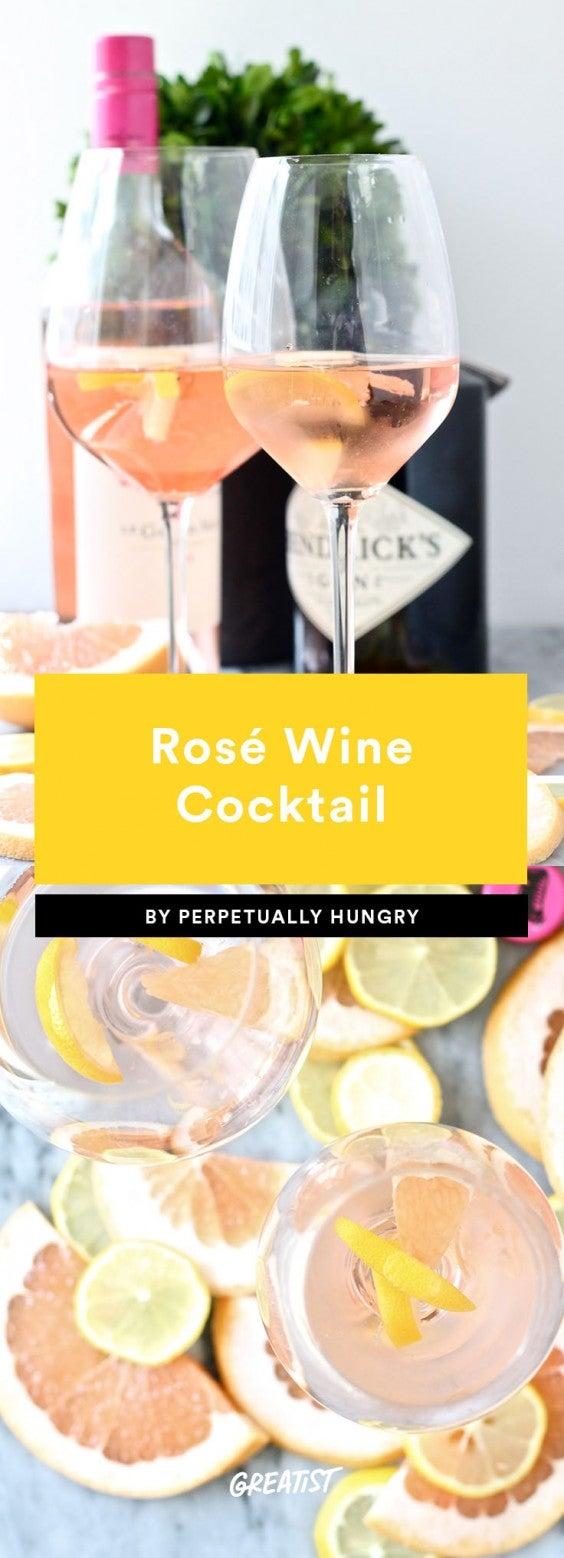 1. Rosé Wine Cocktail
