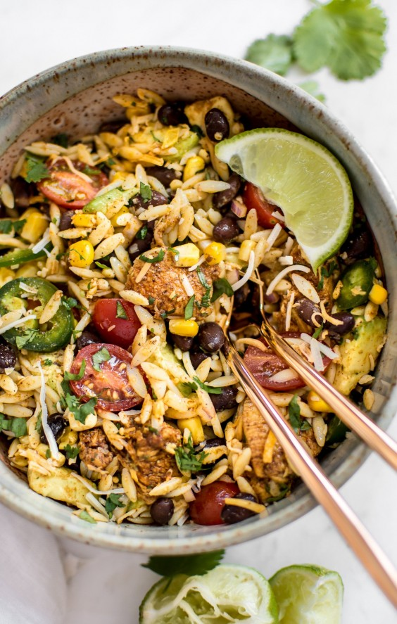 Mexican Chicken Salad With Orzo Recipe