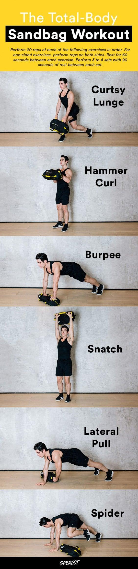 Compound Exercises 12 Sandbag Moves For Strength
