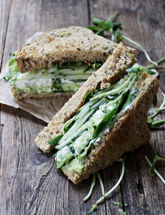14. Green Goddess Sandwiches