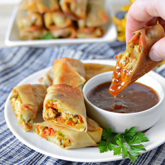 4. Baked Pork and Napa Cabbage Egg Rolls