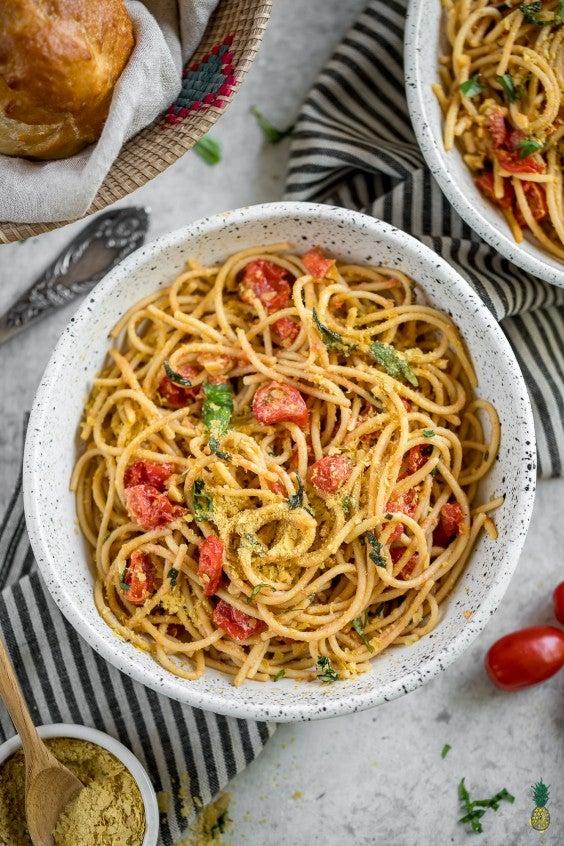 1. Simple Lemon Olive Oil Pasta