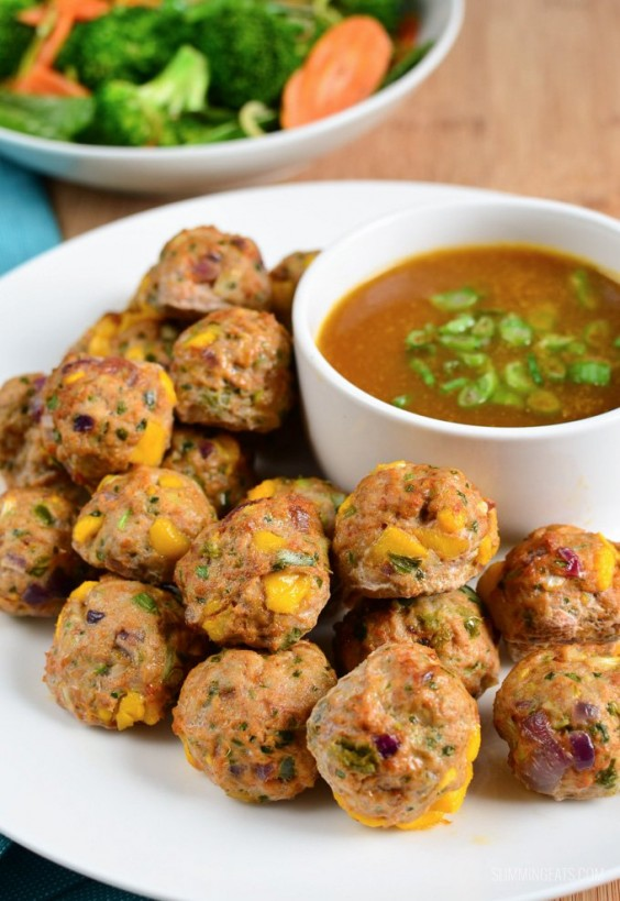 4. Chicken and Mango Meatballs With a Spicy Mango Sauce
