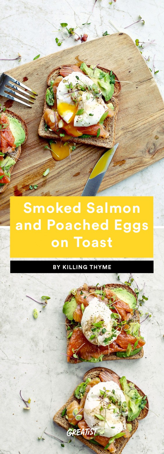 2. Smoked Salmon and Poached Eggs on Toast