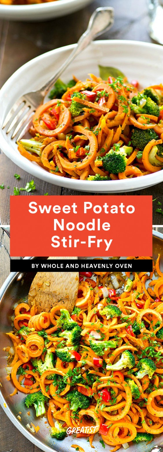 Sweet Potato Noodle Stir-Fry