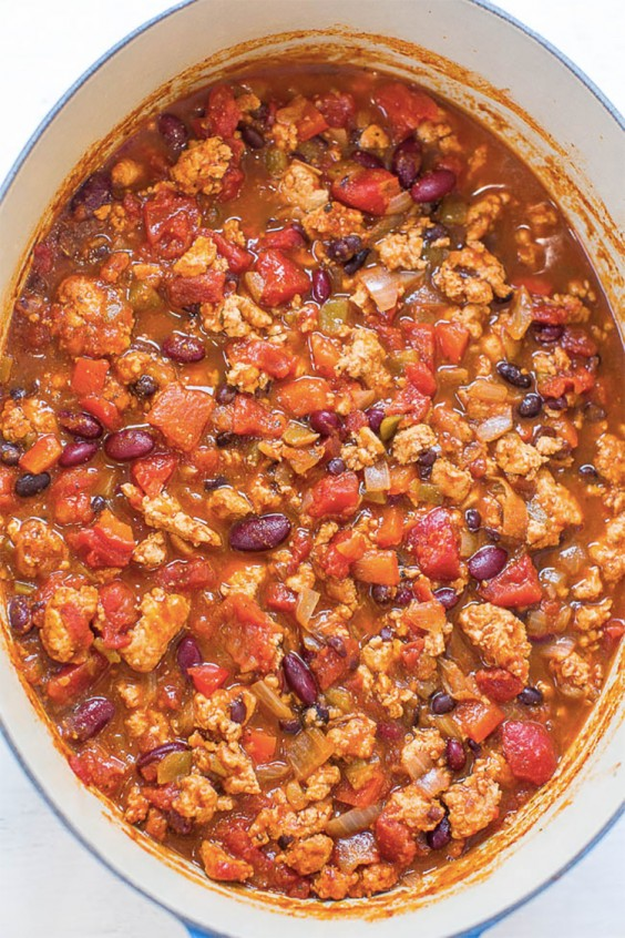 6. Easy 30-Minute Turkey Chili