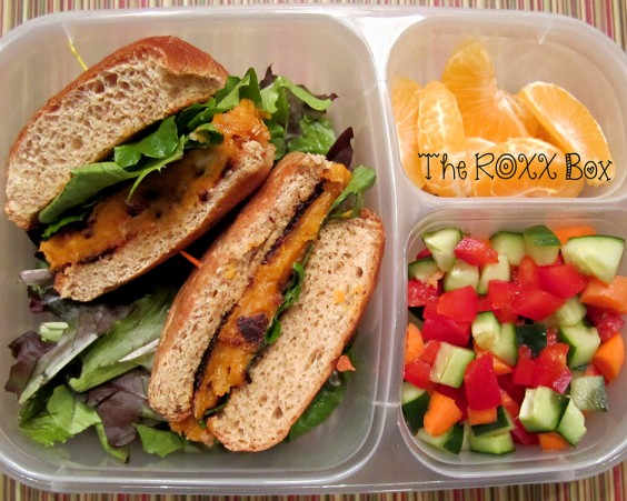 Sweet Potato Burger Bento