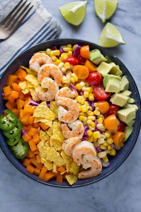 7. Honey-Lime Shrimp and Avocado Salad