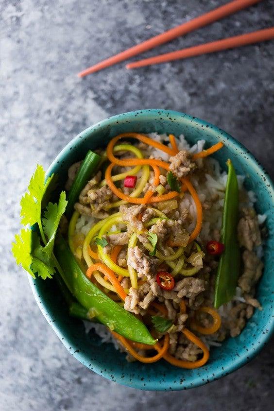 11. Lemongrass Thai Ground Pork Stir-Fry