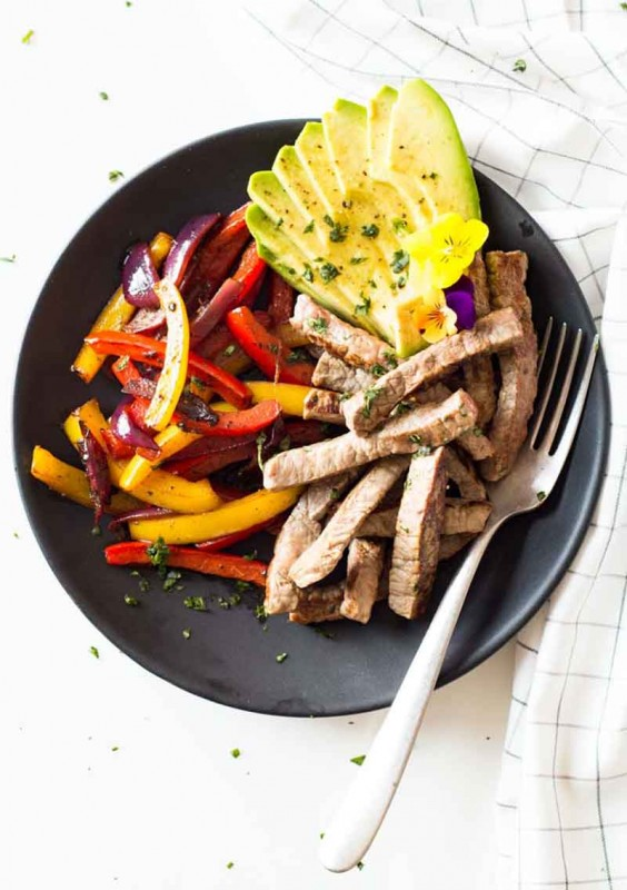 12. Healthy and Easy Beef Fajitas