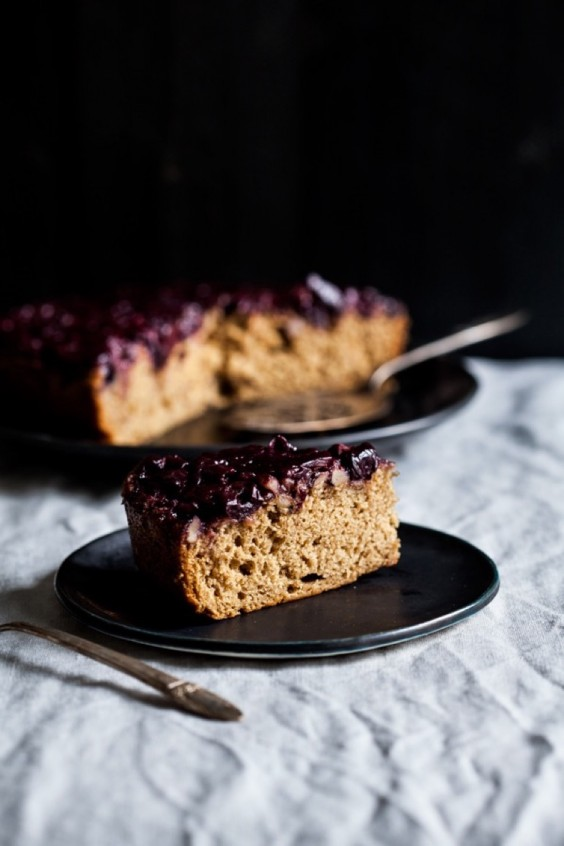 8. Wholesome Sweet Cherry Upside Down Cake