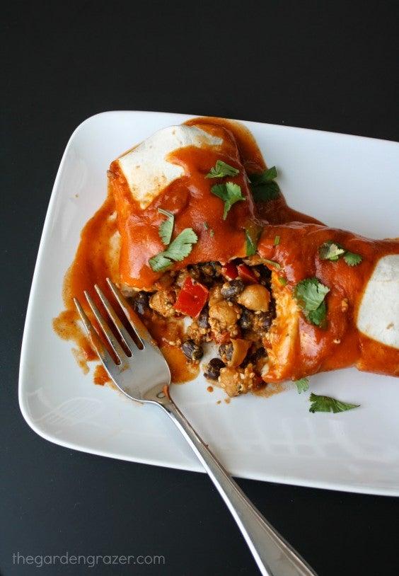 4. Protein Monster Vegan Enchiladas