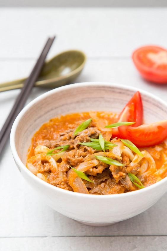10. Beef Tomato Udon Soup