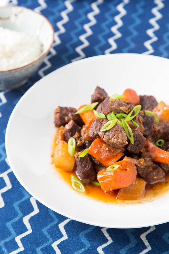 3. Braised Short Ribs With Daikon and Carrots