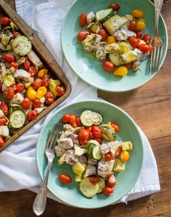 9. Sheet-Pan Greek Chicken and Veggies