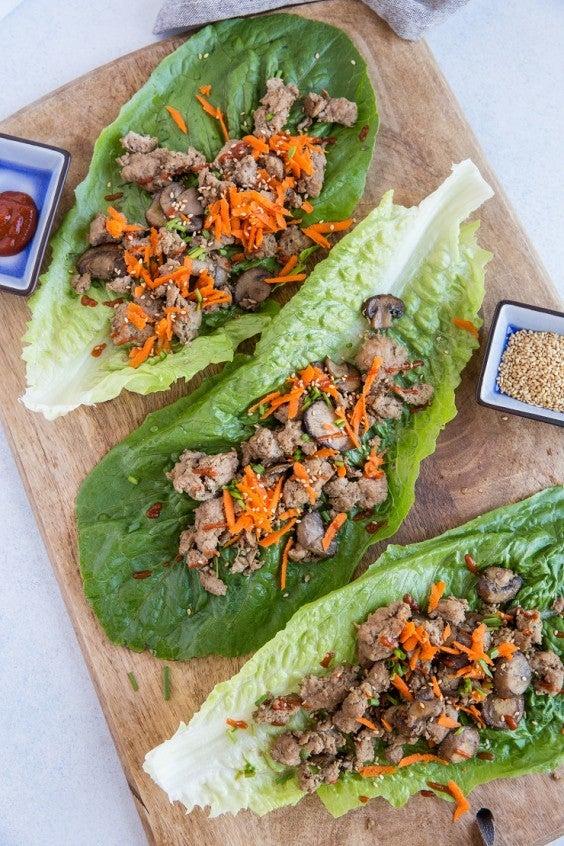 4. Instant Pot Asian Turkey Lettuce Wraps