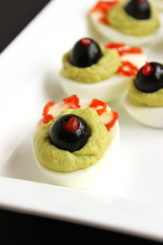 16. Green-Eyed Monster Deviled Eggs