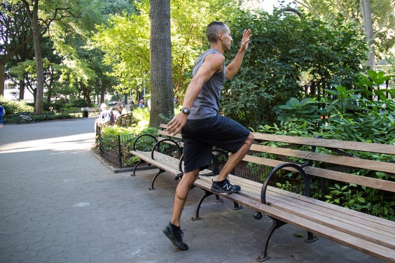 8. Bench Toe Tap