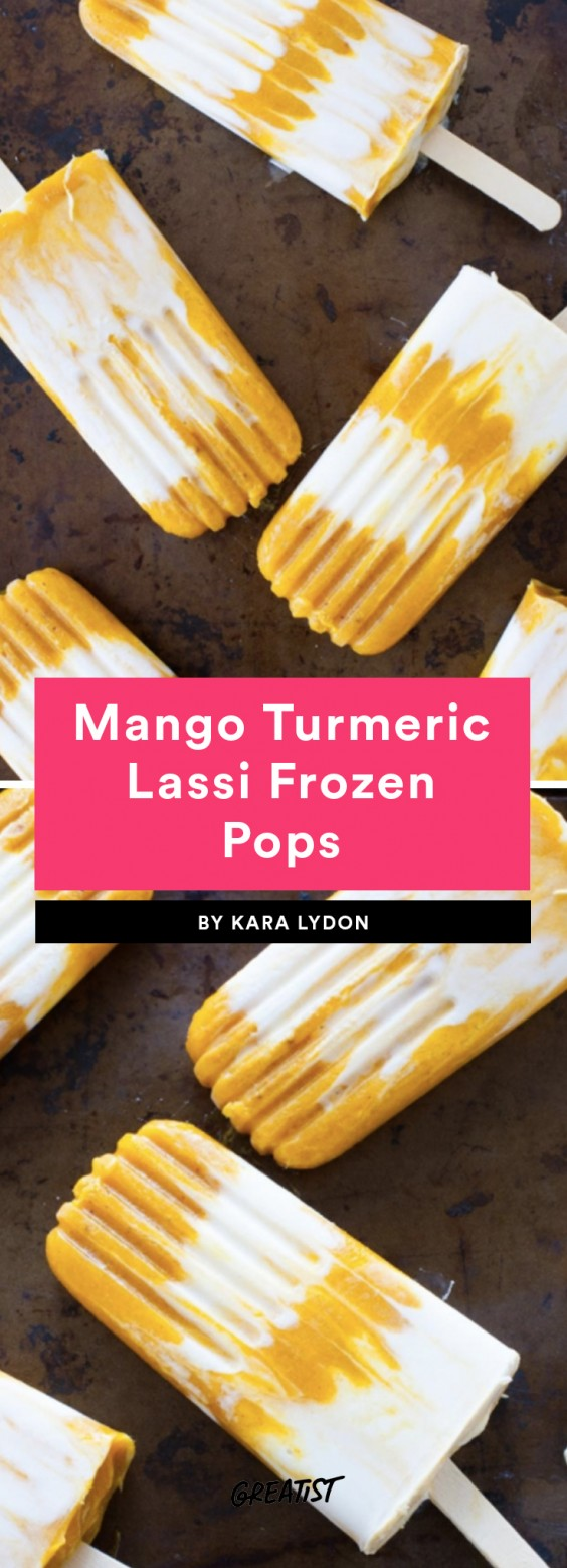 1. Mango Turmeric Lassi Frozen Pops
