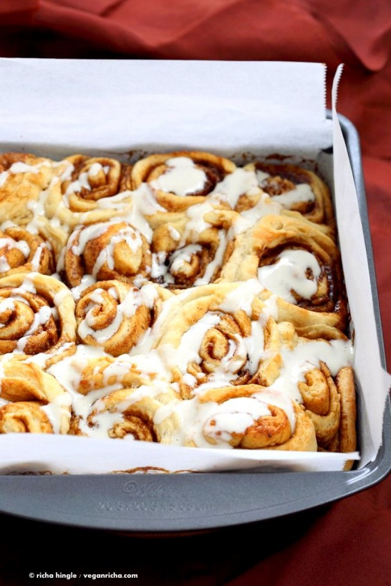 3. One-Hour Cinnamon Rolls With Aquafaba