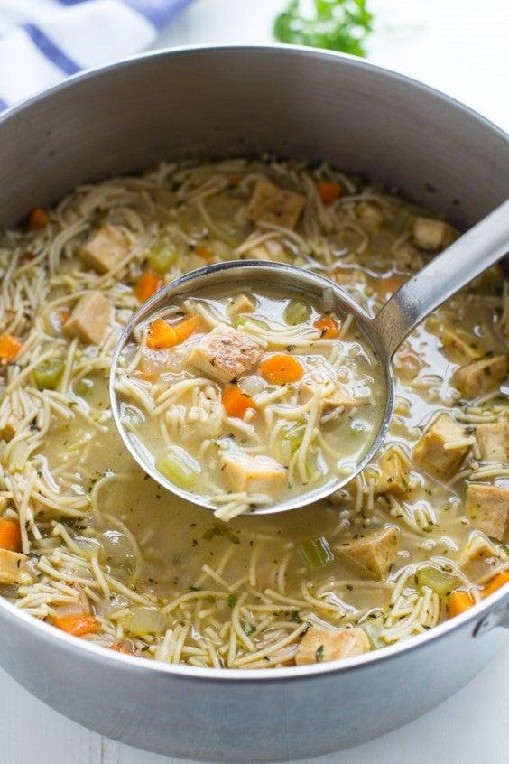 Tofu Recipe: Vegan Tofu Noodle Soup