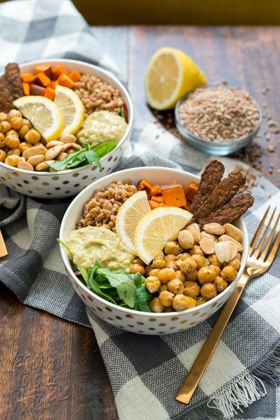 2. Vegan Fall Farro Protein Bowl
