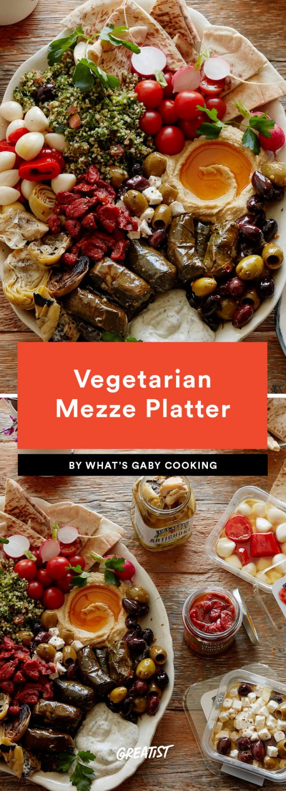 1. Vegetarian Mezze Platter