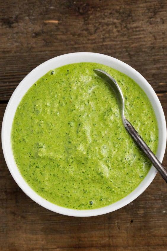 12. Lemony Green Pesto Sauce