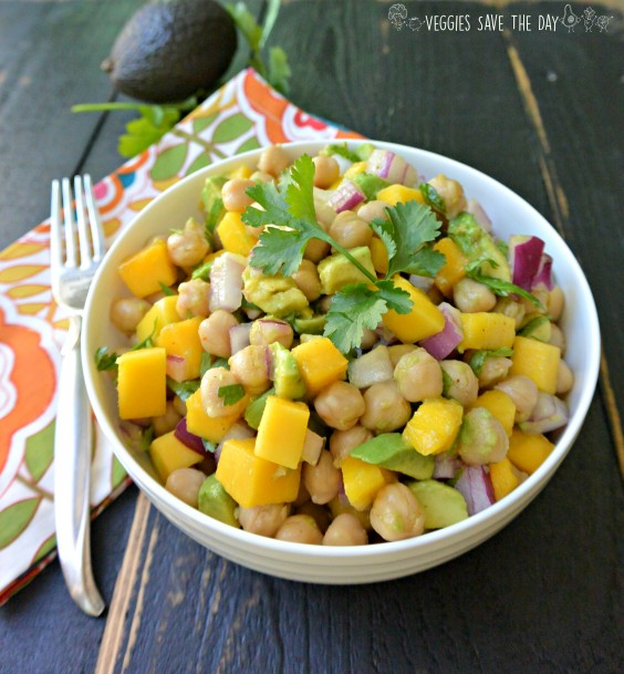 10. Tropical Chickpea Salad