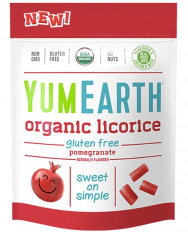 1. YumEarth Organic Pomegranate Licorice