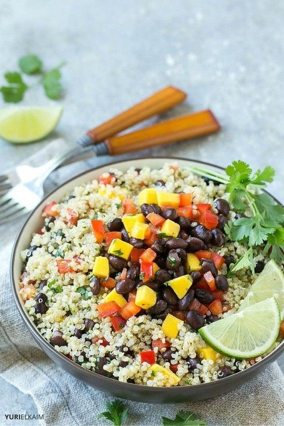 8. Mango, Quinoa, and Black Bean Salad