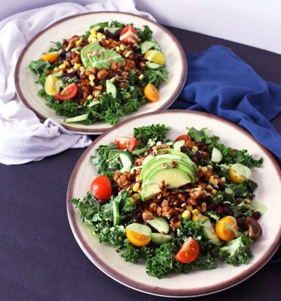 9. Tempeh Kale Taco Salad