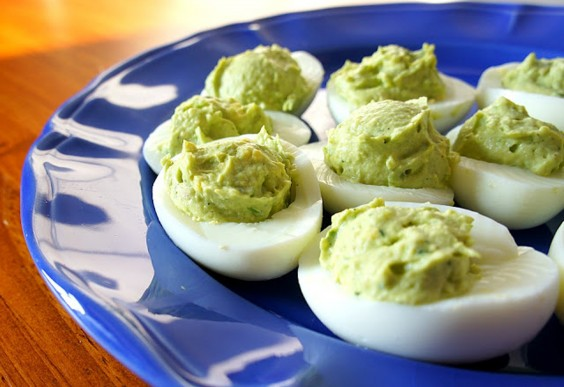Paleo Snacks: Avocado Deviled Eggs