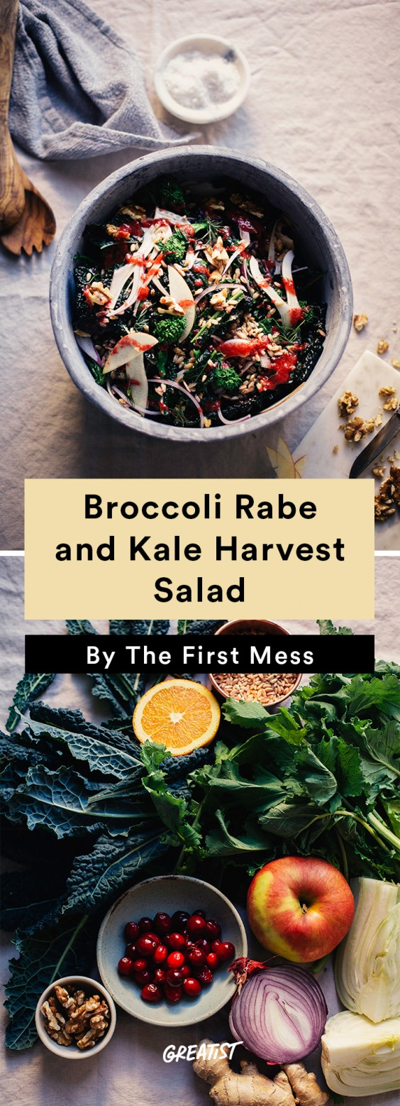 broccoli rabe and kale salad